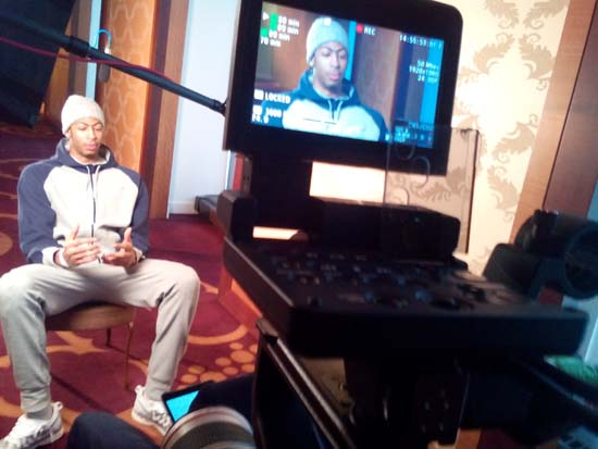 ESPN interview 30 for 30 with NBA Player Anthony Davis. Nick, Mister Photon Media.