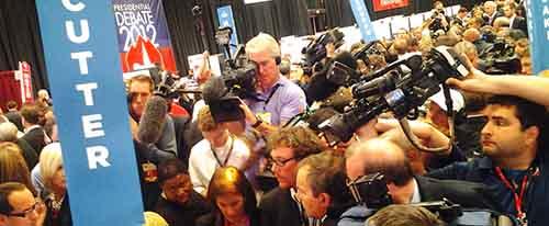 Post presidential debate coverage by Nick Teti, Mister Photon Media, Denver & all Colorado sound recordist, crew members & camera crews.
